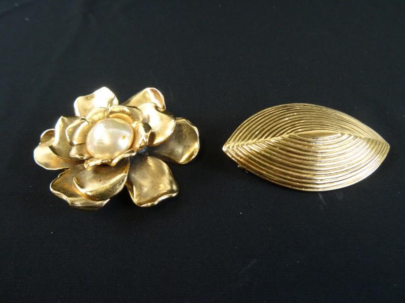 Juwelen: 2 Vintage boches YSL