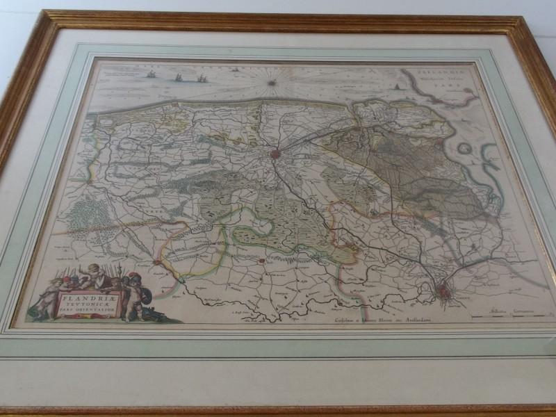 Antieke kaart Flandriae Teutonicae pars Orientalior