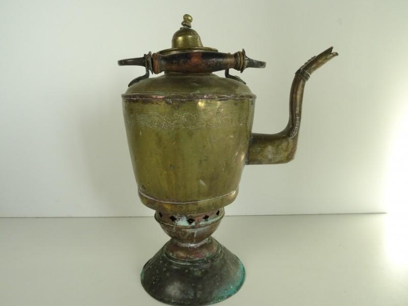 Vintage messing theepot/koffiepot met brander