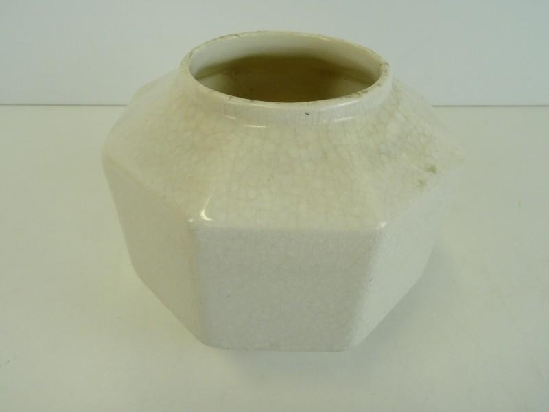 Art-deco aardewerk vaasje 8 hoek