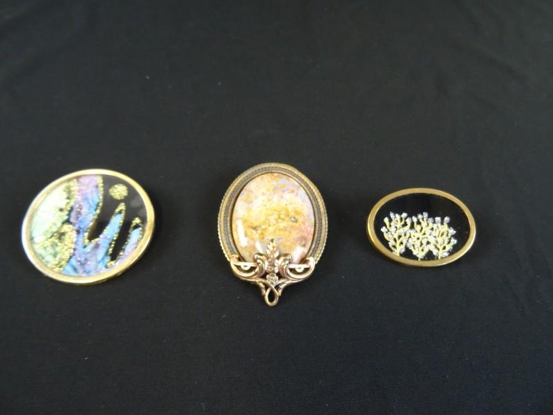 juwelen: 3 broches