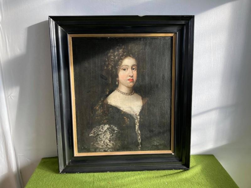 Portretschilderij van een gegoede dame