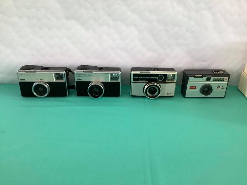 Vier mechanische Kodak camera's