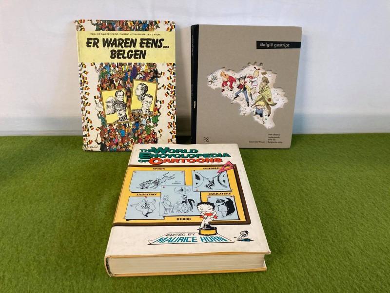 3 boeken over strips / cartoons