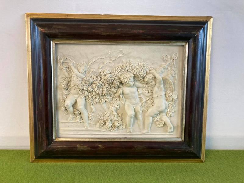 Reliëf plaquette kader (kopie naar Francois Duquesnoy)