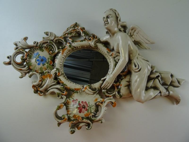 Porseleine Italiaanse spiegel Bassano