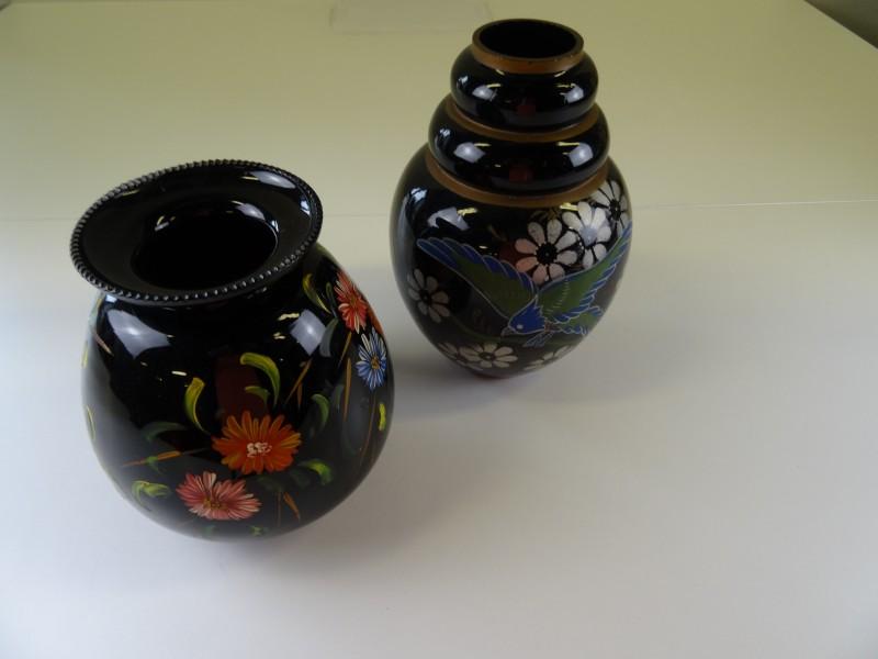 Vaas met vogelprint / vaas met bloemenprint