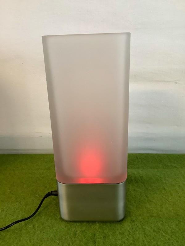 Menu design vaas met veranderend licht