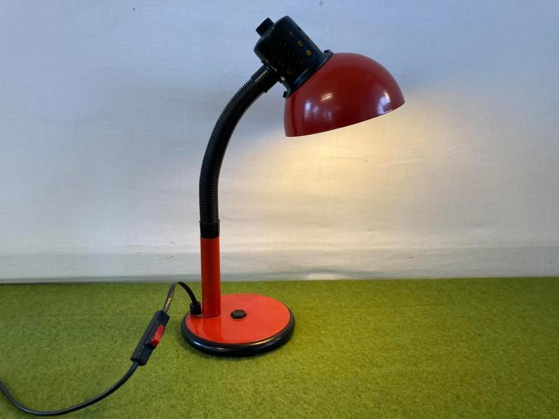 Vintage rode bureaulamp