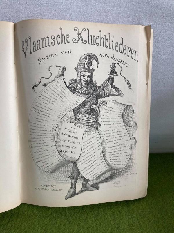"""Boek """"Vlaamsche Zang 1"""" (ca. 1890)"""
