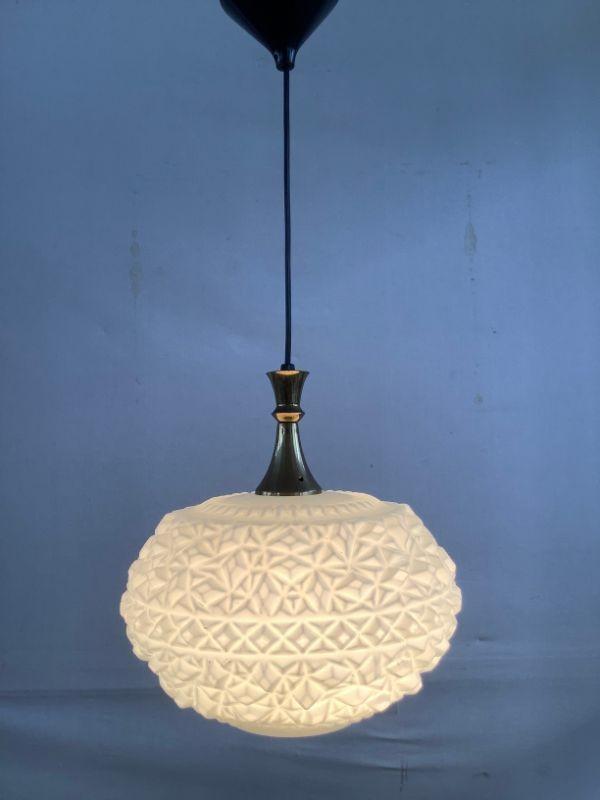 Witte glazen hanglamp