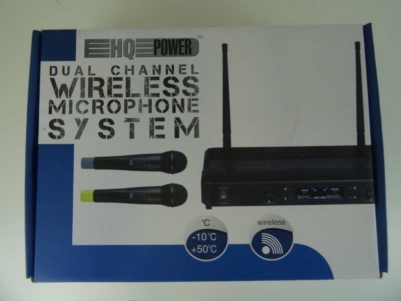 Draadloos 2-kanaals microfoonsysteem