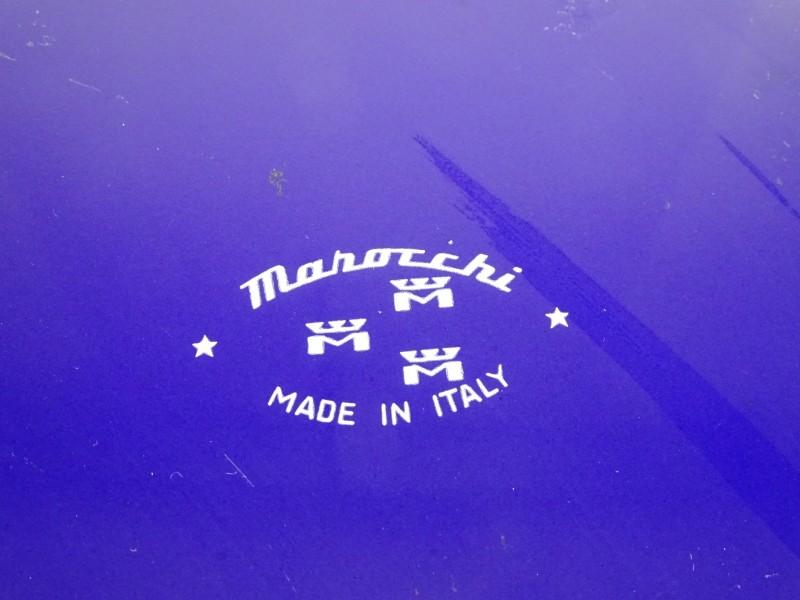 Retro vintage kookpan met deksel MAHOCCHI MANOCCHI BLUE