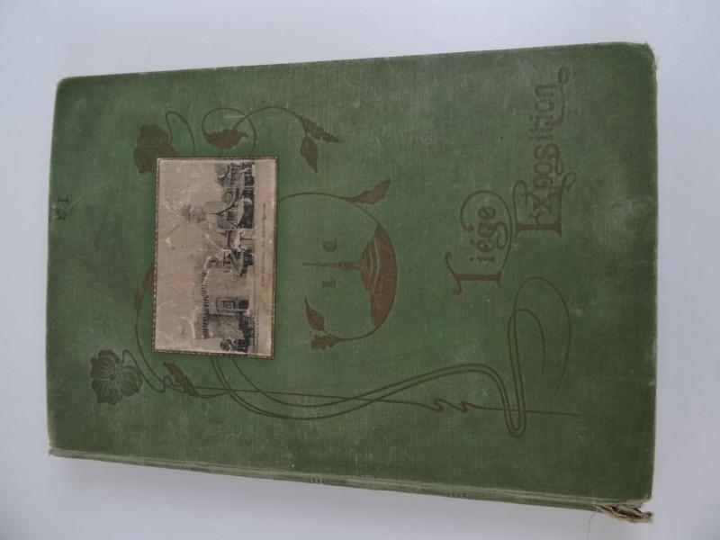 boek Liege exposition met postkaarten