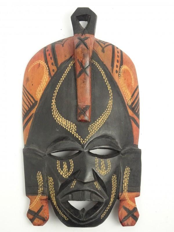 Decoratief houten masker uit Kenia.