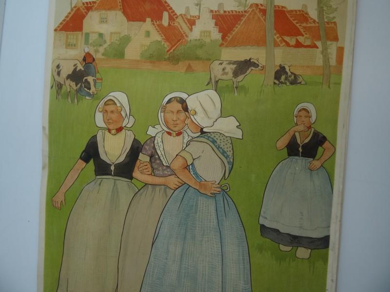 Lot 4: Henri Cassiers : 3 vintage posters Hollandse boerinnen