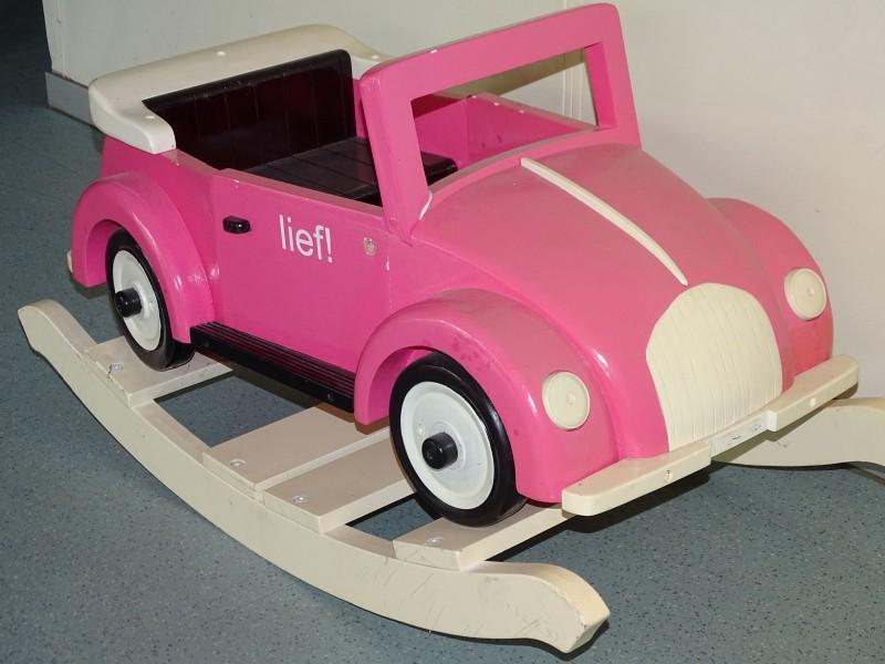 Houten Schommelauto: Volkswagen Kever, Kids Factory, Lief!