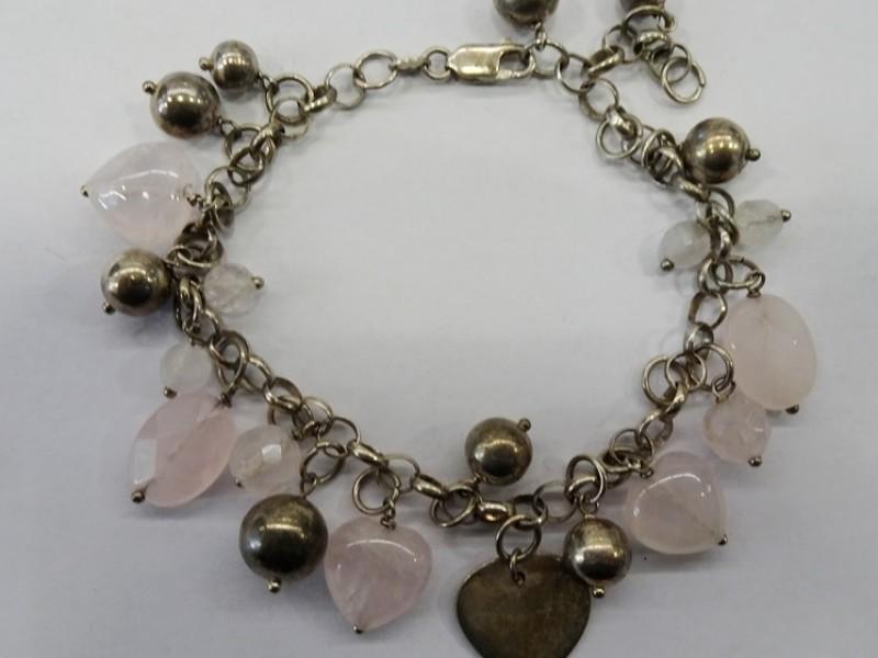 zilveren armband met steentjes