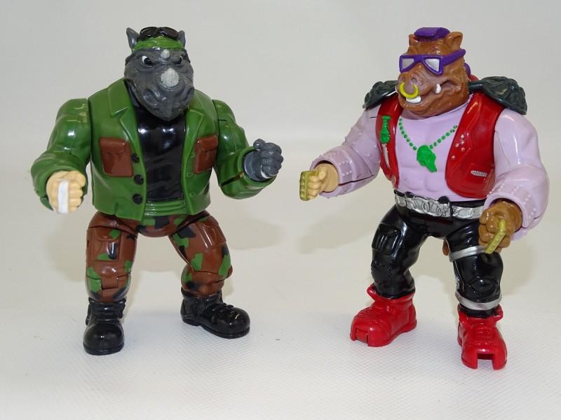 2 Turtles Actiefiguren: Mutatin' Bepop en Rocksteady, 1992