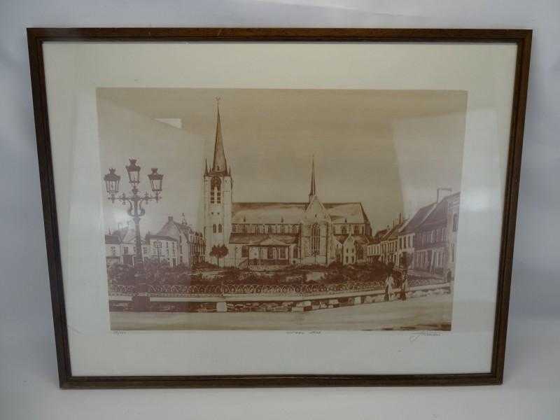 Tekening: Joseph Sledsens, Markt Van Geel 1909