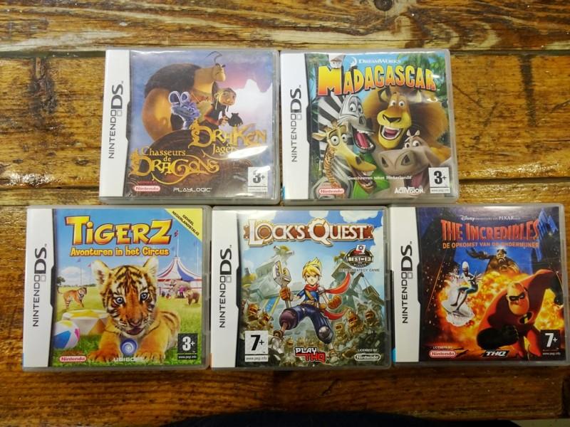 5 Nintendo DS spellen
