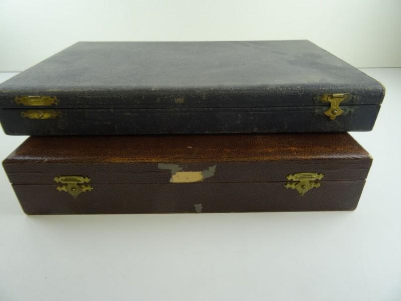 Vintage bestekkoffers inox