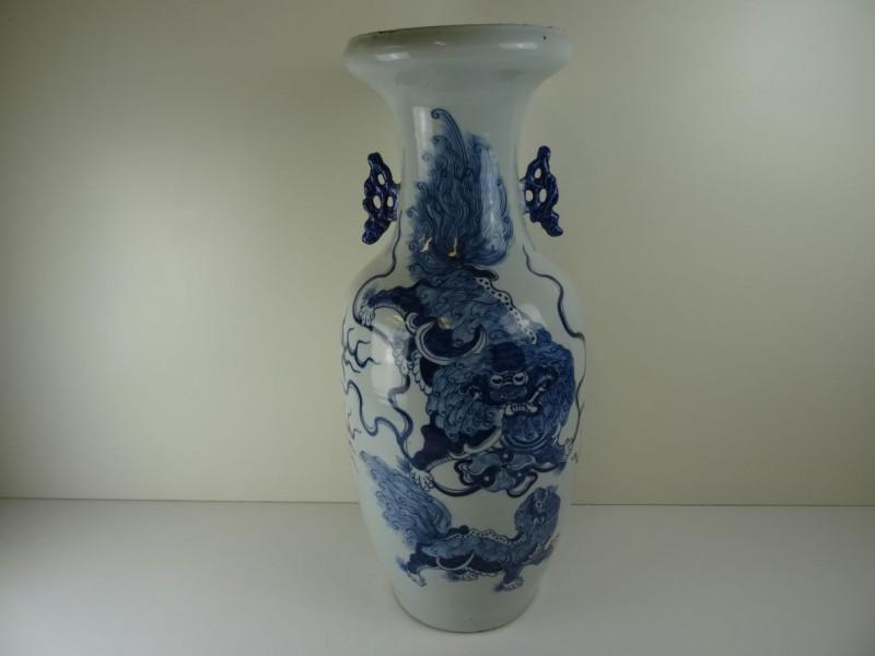 Qing grond-vaas Dragon-Phoenix - Chinees