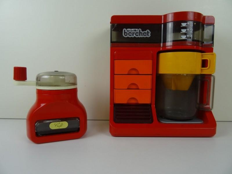 vintage jouets Berchet: koffiezetapparaat en koffiemolen 1978 1979