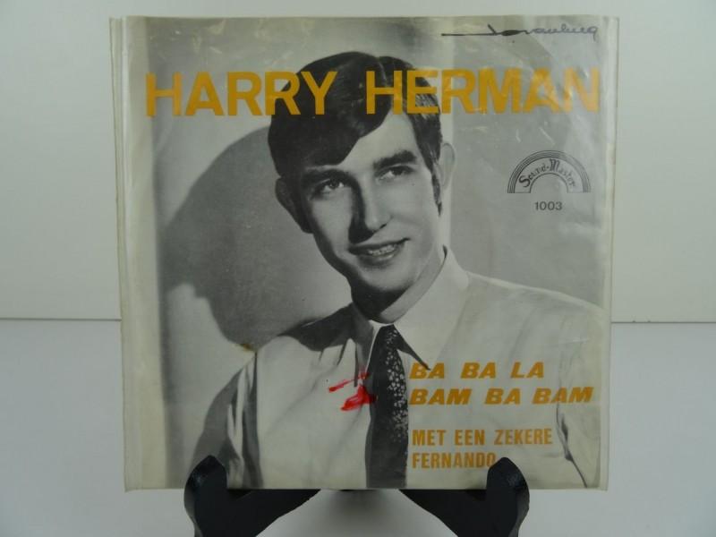 """Harry Herman – Ba Ba La Bam Ba Bam / Met Een Zekere Fernando (7"""")"""