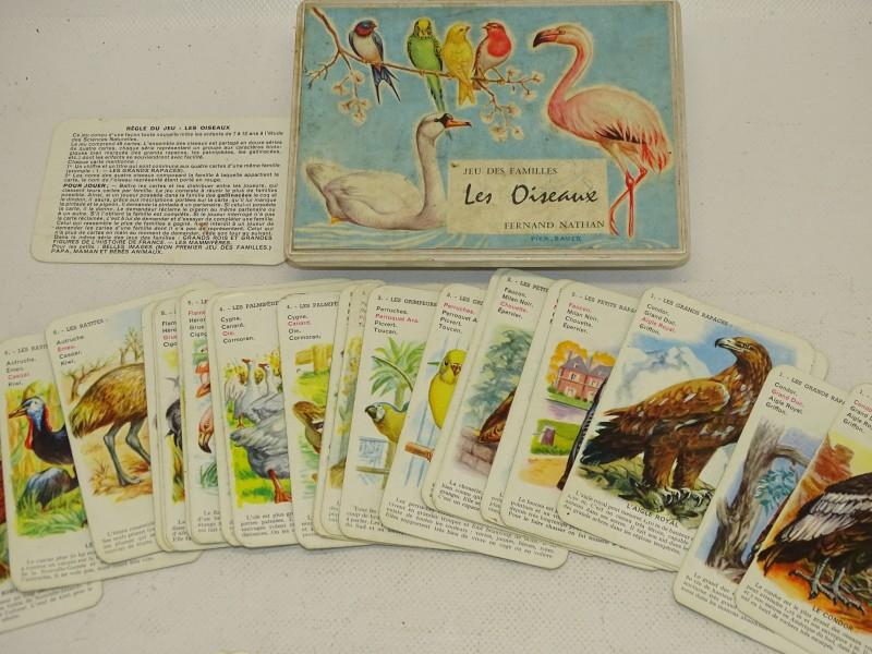 Vintage Familiespel, Kwartet, Les Oiseaux, Fernand Nathan
