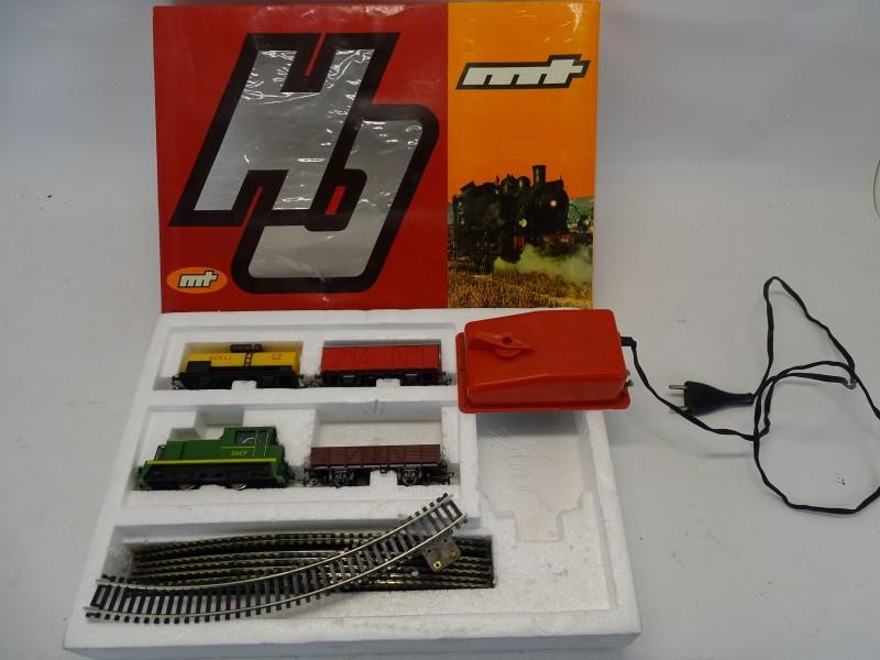 Vintage Elektrische Trein Set, Joegoslavië, Mechanotechniko Izola