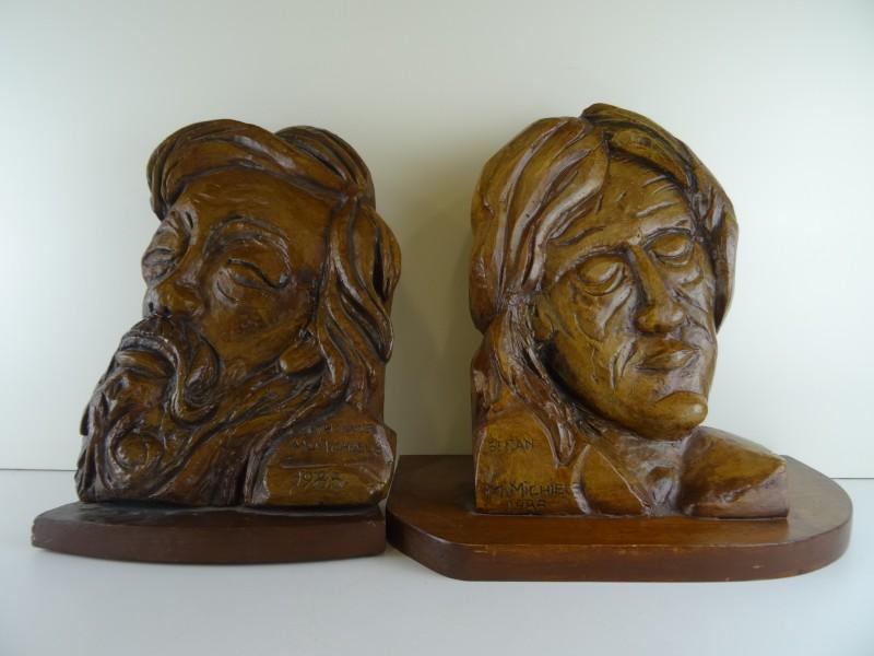 Gips relief hoofd St.Thomas & St. Jan