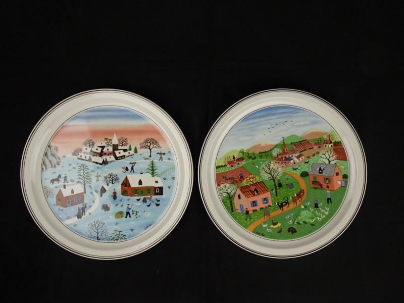 Villeroy & Boch aardewerk muurdecoratie borden