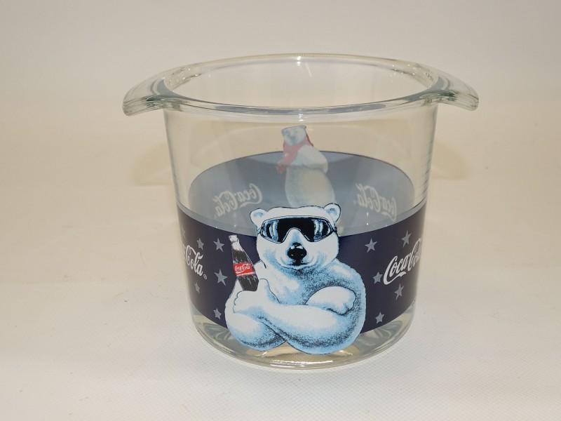 Glazen IJsemmer Coca Cola