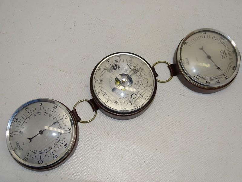 Retro Weerstation met: Barometer, Thermometer en Hygrometer