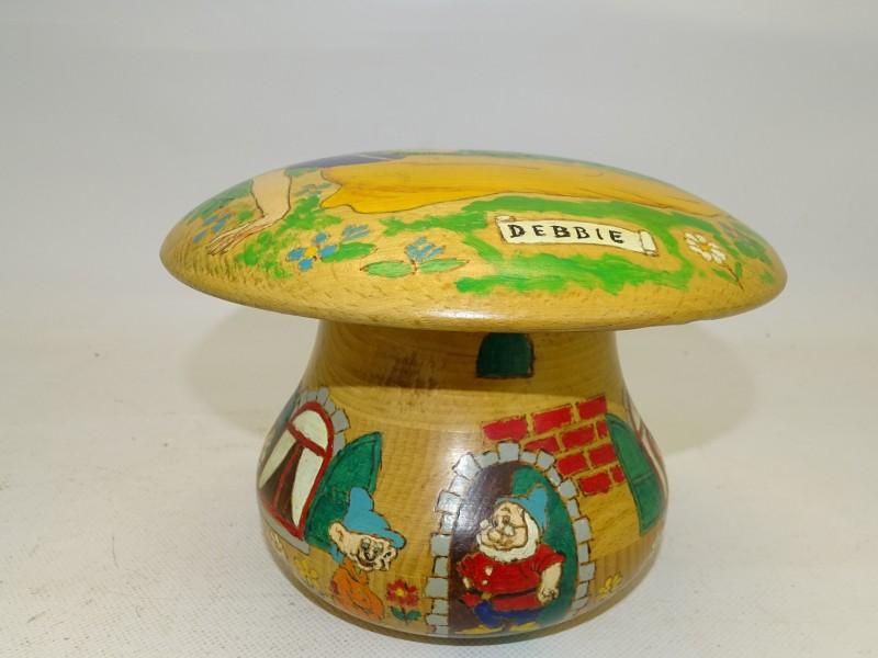 Handgemaakte Paddenstoel Spaarpot, Disney Thema