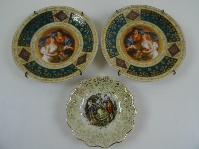 Vintage porselein borden