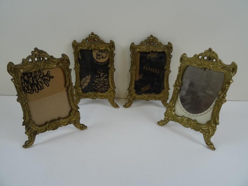 4 bronzen fotokaders