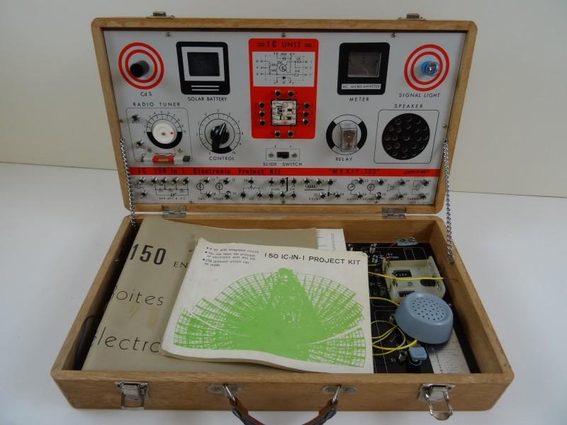 vintage elektronische experimenteerdoos jaren 60 met handleiding