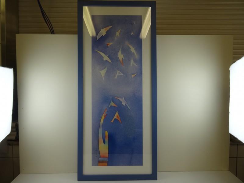 Jean-Michel Folon: duiven offsetdruk