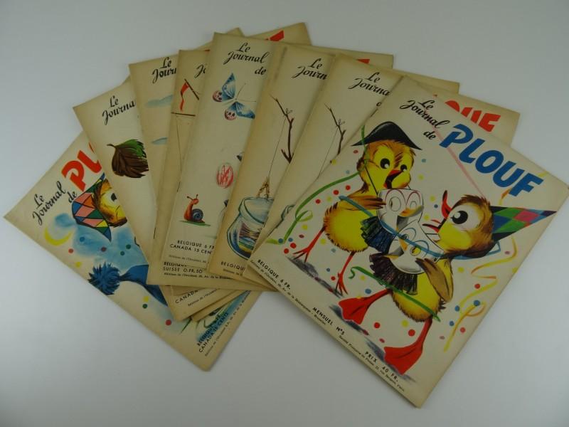 9 x  jeugdbladen Le journal de Plouf jaren '50