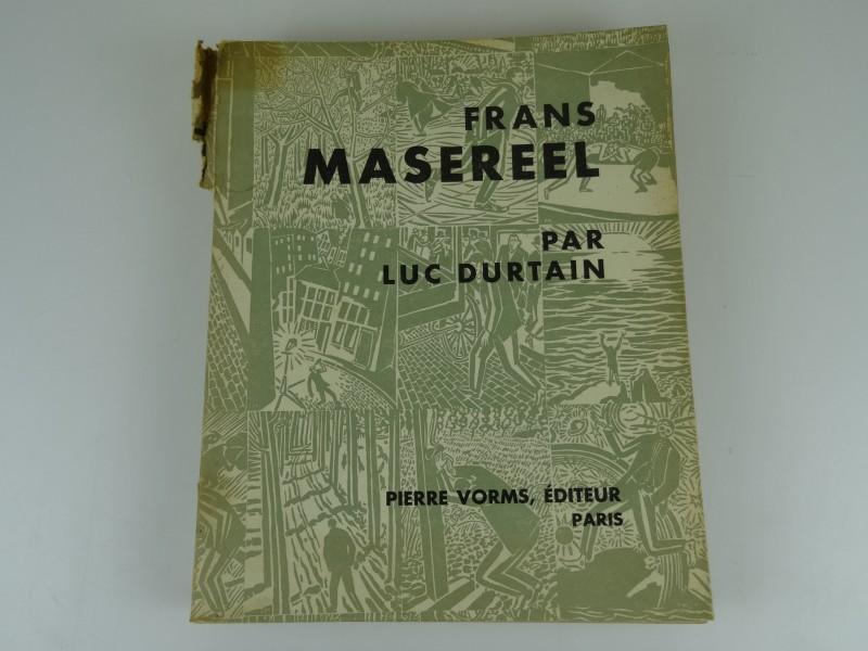 Luc Durtain: Frans masereel 1931 met boekje 1929 en 2 afgestempelde postzegels