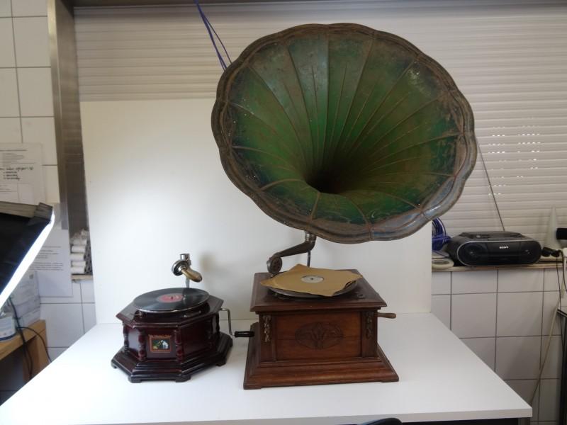 Set Gramophones als siermeubel