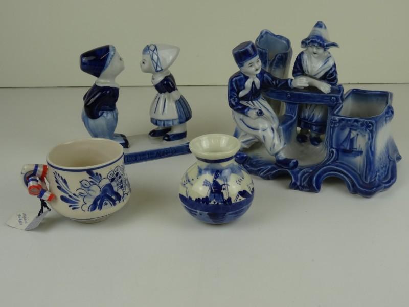 Blauw porselein lot