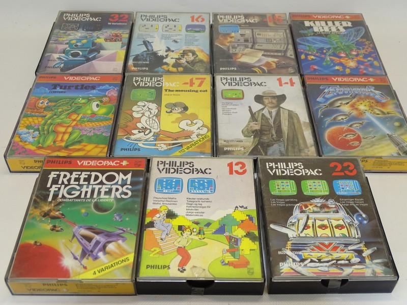 11 VideoPac Spelcassettes, Jaren '80