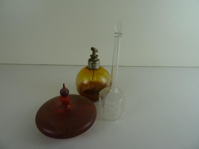 Lot vintage parfum flesjes