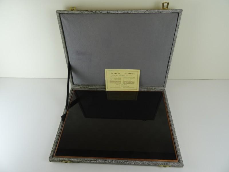 Vintage EFHA Raster Glasplaat