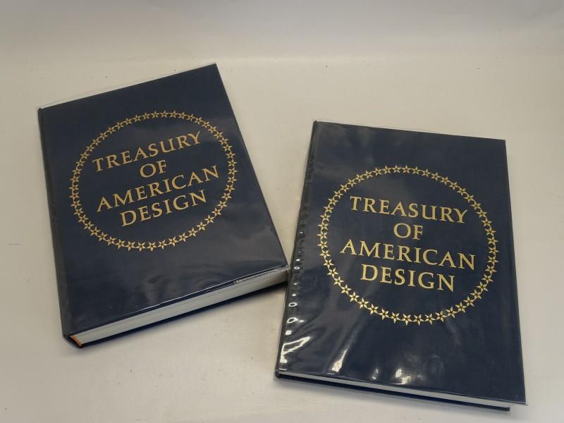 2 Boeken: Treasury Of American Design, Vol. 1 & Vol. 2, Clarence P. Hornung