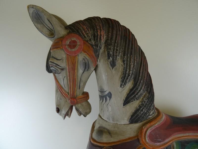 vintage houten schommelpaard