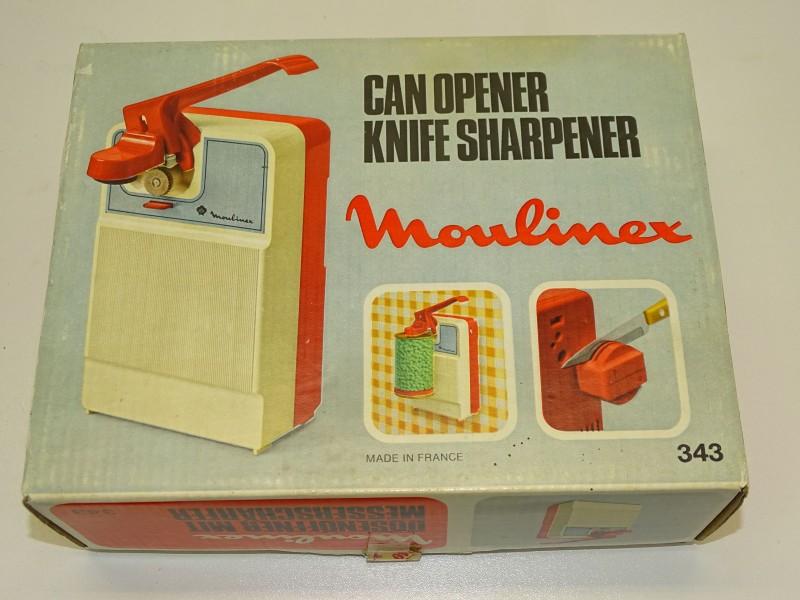 Elektrische Blik Opener, Messenslijper: Moulinex, 1977